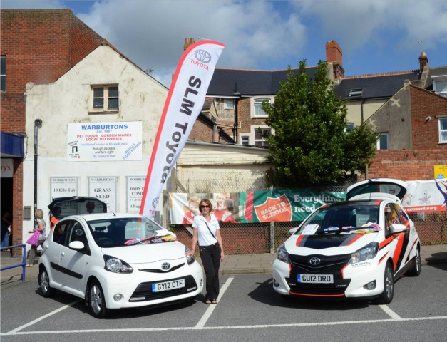 Toyota Uckfield attend cycle charity event at Brands Hatch