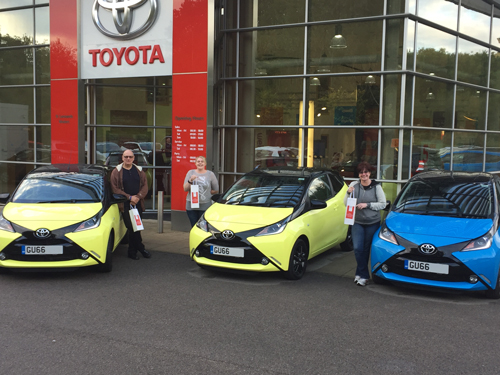 Aygo Fan Part Exchanges Old for New at SLM Toyota Uckfield